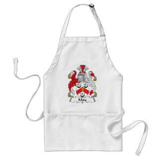 May Family Crest Adult Apron