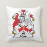 May Family Crest Pillow