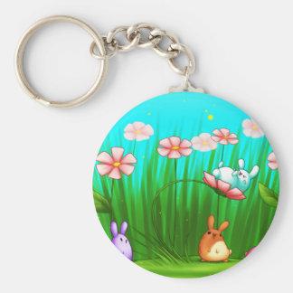 May Flower Fun Keychain