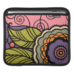 MAY FLOWER - LOVELY ART DECO FLORAL SLEEVE FOR iPads