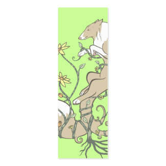 May Flowers Bookmark Business Card