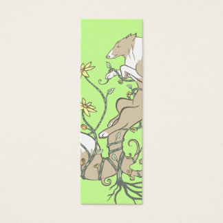 May Flowers Bookmark Mini Business Card