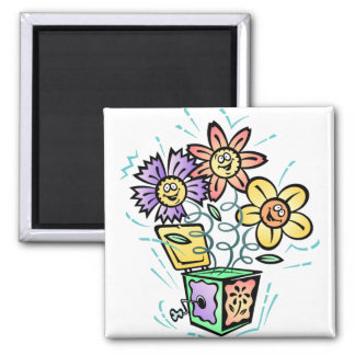 May Flowers Jack in the Box Fridge Magnets