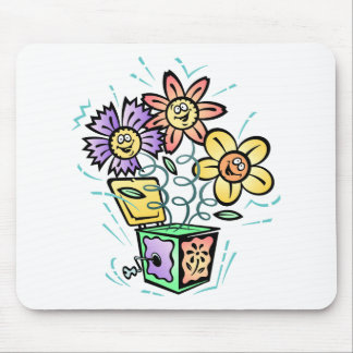 May Flowers Jack in the Box Mouse Pad
