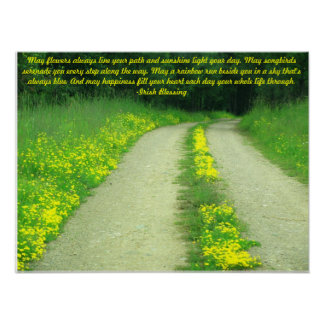 May Flowers Line Your Path...Irish Blessing Poster