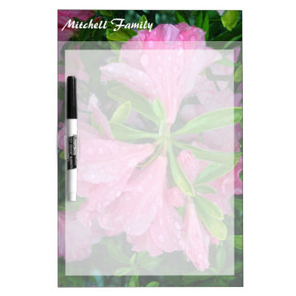 May Flowers Personalized Dry Erase Board