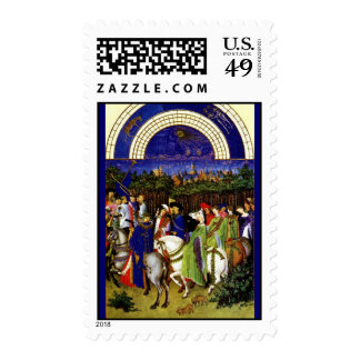 May from the Tres Riches Heures du Duc de Berry Stamps