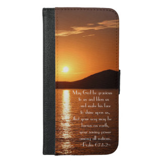 May God be Gracious to Us and Bless Us Psalm 67 iPhone 6/6s Plus Wallet Case