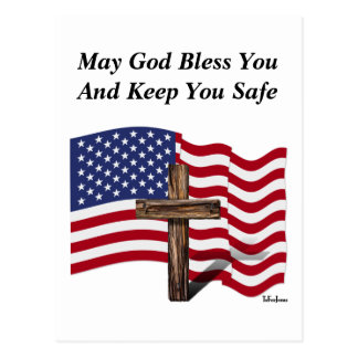 May God Bless You And Keep You Safe Postcard