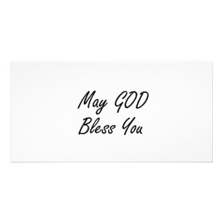 MAY GOD BLESS YOU PHOTO CARD