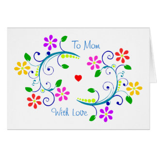 May God Bless You with Flowers, Happy Mother's Day Card