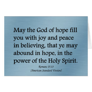 May God give you hope, joy, and peace Romans 15:13 Stationery Note Card