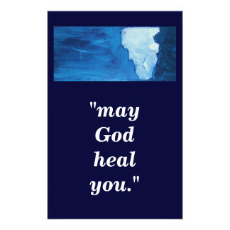 """may God heal you."" Flyer"