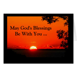 May God's Blessings Be With You Confirmation Card