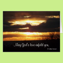 May God's love enfold you, Get Well Card