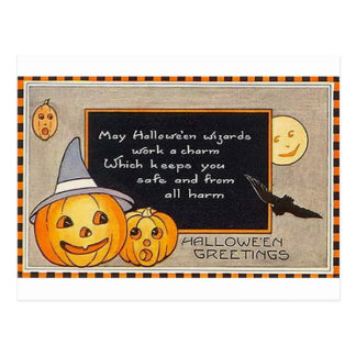 May Halloween Wizards Work A Charm Postcard