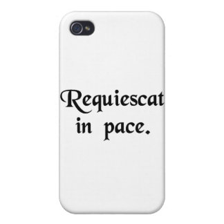 May he(or she)rest in peace cover for iPhone 4