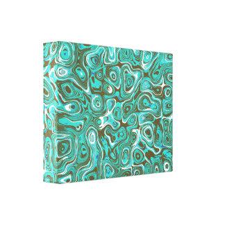 May I follow U  1 Retro feeling abstract modern Canvas Print