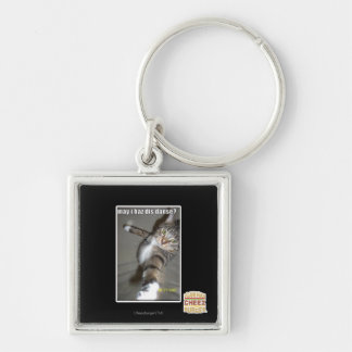 may I haz dis dance? Silver-Colored Square Keychain