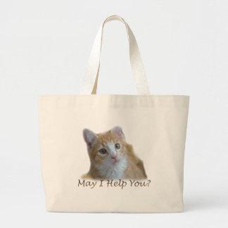 May I help you? Large Tote Bag
