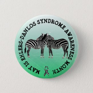 May is Ehlers-Danlos syndrome Month Button