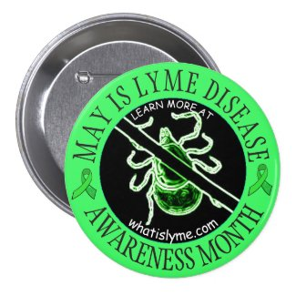 May is Lyme Disease Awareness Month AntTick Button