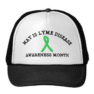 May is Lyme Disease Awareness Month Baseball Cap Trucker Hat