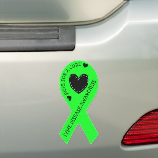 May is Lyme Disease Awareness Month Ribbon Car Magnet