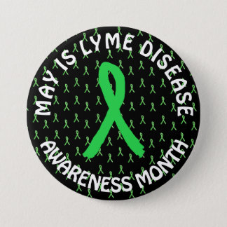 May is Lyme Disease Awareness Month Ribbons Button