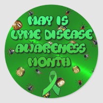 May is Lyme Disease Awareness Month Stickers