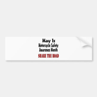 Motorcycle Safety Bumper Stickers Car Stickers Zazzle - Custom motorcycle bumper stickers awareness