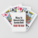 May Is Motorcycle Safety Awareness Month SHARE THE Poker Cards