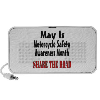 May Is Motorcycle Safety Awareness Month SHARE THE Notebook Speakers