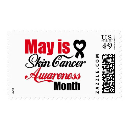 May is Skin Cancer Awareness Month Postage Stamp