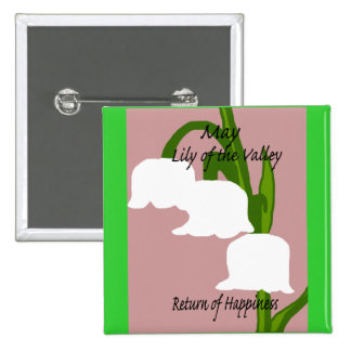 May Lily of the Valley Return of Happiness button