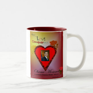 May, Love Conquer All Two-Tone Coffee Mug