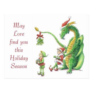 May Love find you this Holiday Season (postcard) Postcard