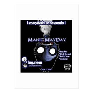 May - Manic MayDay Postcard