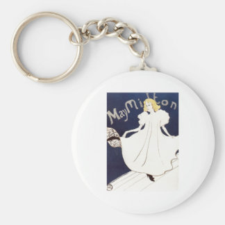 May Milton 1895 Henri de Toulouse-Lautrec Basic Round Button Keychain