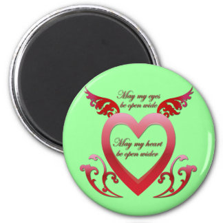 May My Heart Be Open 2 Inch Round Magnet