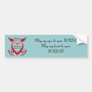 May My Heart Be Open Bumper Sticker