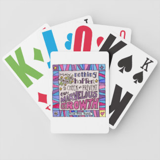 May nothing happen to prevent our marvelous growth bicycle playing cards