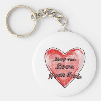 May our Love Never Fade Basic Round Button Keychain