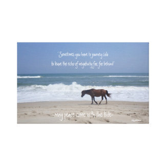 May Peace Come With The Tide Canvas Print