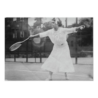 May Sutton playing tennis Card