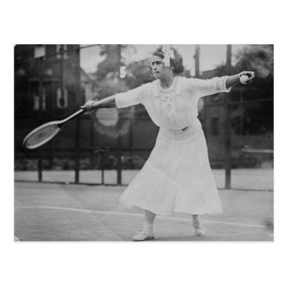 May Sutton playing tennis Postcard