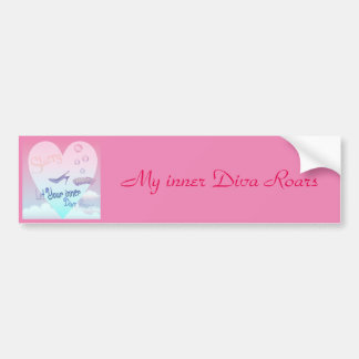 May the Diva be with you Car Bumper Sticker