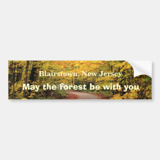 May the forest be with you bumper sticker car bumper sticker