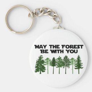 May The Forest Be WIth You Key Chain