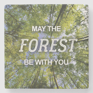 May The Forest Be With You marble coaster